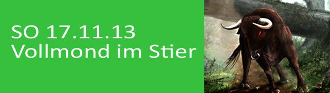 SO 17.11. Vollmond im Stier (16.15h)