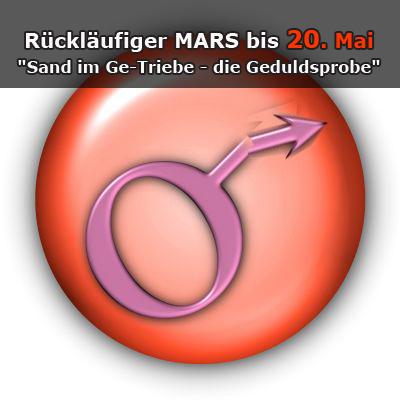 """Rückläufiger Mars bis 20. Mai'14 – """"Sand im Ge-Triebe / die Geduldsprobe"""""""