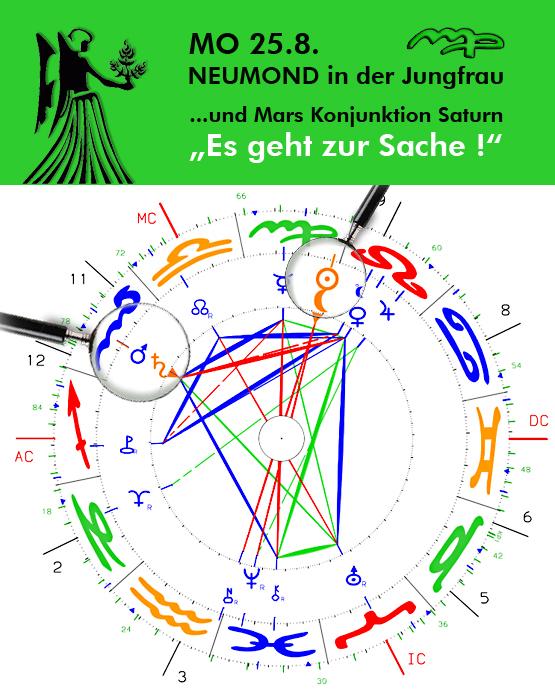 """MO 25.8.14 Neumond in der Jungfrau – """"es geht zur Sache!"""""""