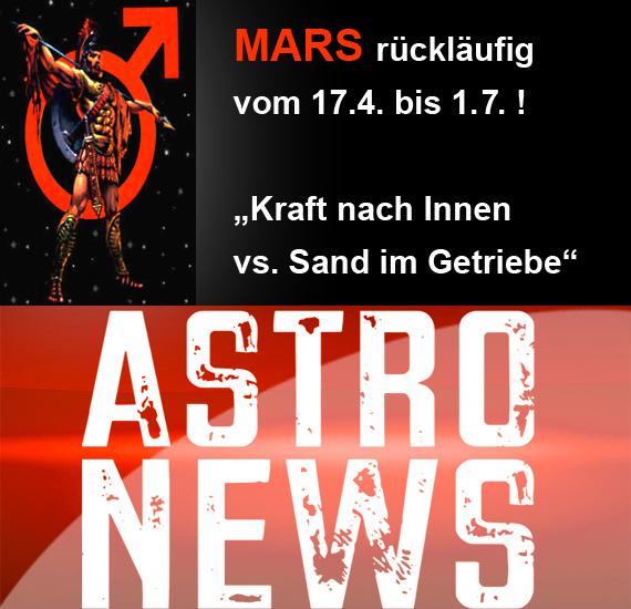 """MARS (Planet der Aktivität) rückläufig – """"Kraft nach Innen vs. Sand im Getriebe""""!"""