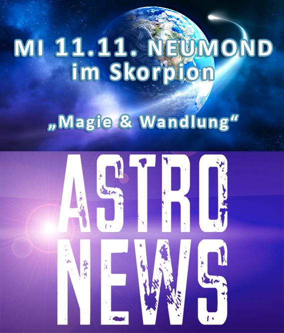 Neumond im Skorpion am 11.11.- Magie, Wandlung & Finanzen