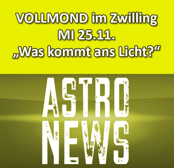 VOLLMOND im Zwilling (25.11.) – Was kommt ans Licht?