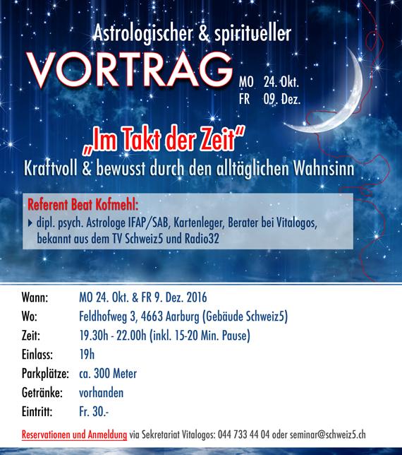 Astrologische & spirituelle VORTRÄGE von Beat Kofmehl, Astrologe